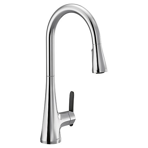 Sinema Single-Handle High Arc Pulldown Kitchen Faucet In Chrome