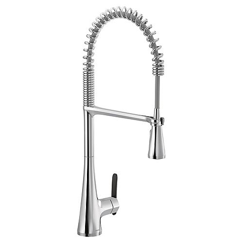 MOEN Sinema Single-Handle High Arc Spring Pulldown Kitchen Faucet In Chrome