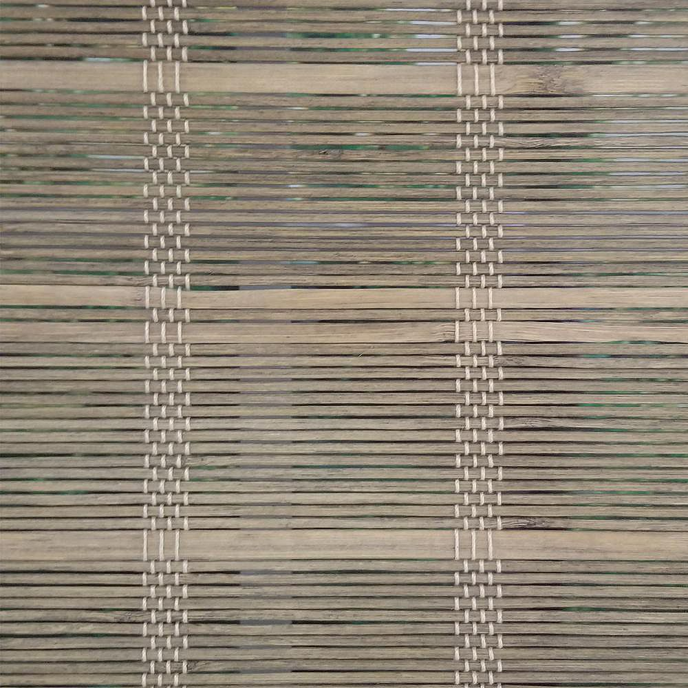 Home Decorators Collection 48 Po Largeur x 72 Po Longueur Ombre Romaine Bambou Sans Fil Bois Flotté