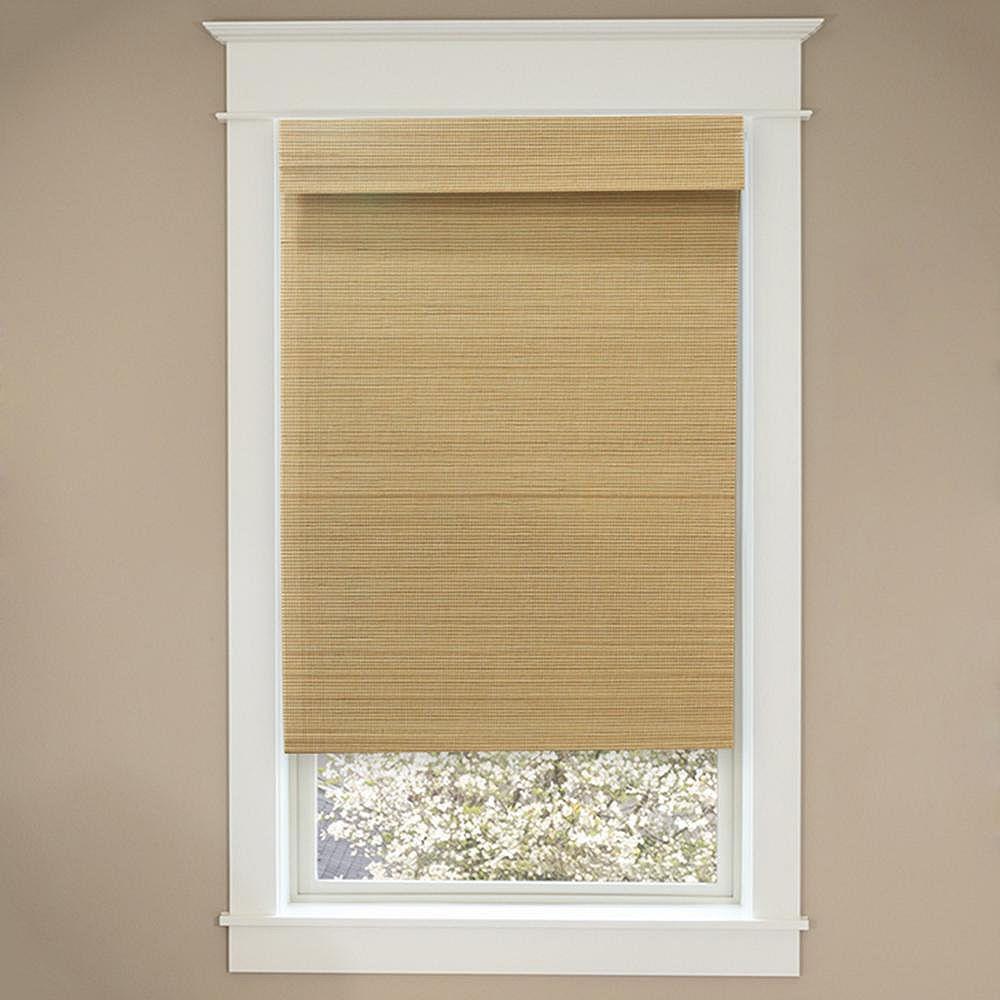 Home Decorators Collection 34 Po Largeur x 72 Po Longueur Ombre Romaine Bambou Sans Fil Naturelle