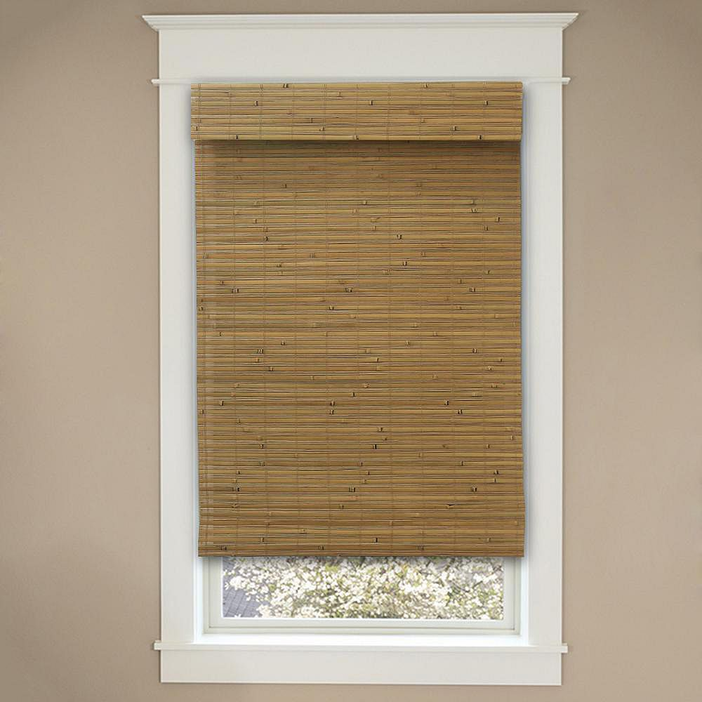 Home Decorators Collection 48-Inch W x 72-Inch L Honey Bamboo Cordless Roman Shades