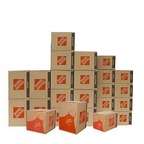 25 Box Mixed Moving Box Bundle