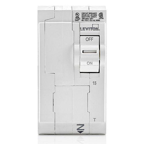 15A 120/240V Bipolaire disjoncteur standard magnétique thermique enfichable