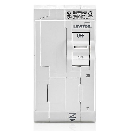 2-Pole 30A 120/240V Thermal Magnetic Plug-on Circuit Breaker