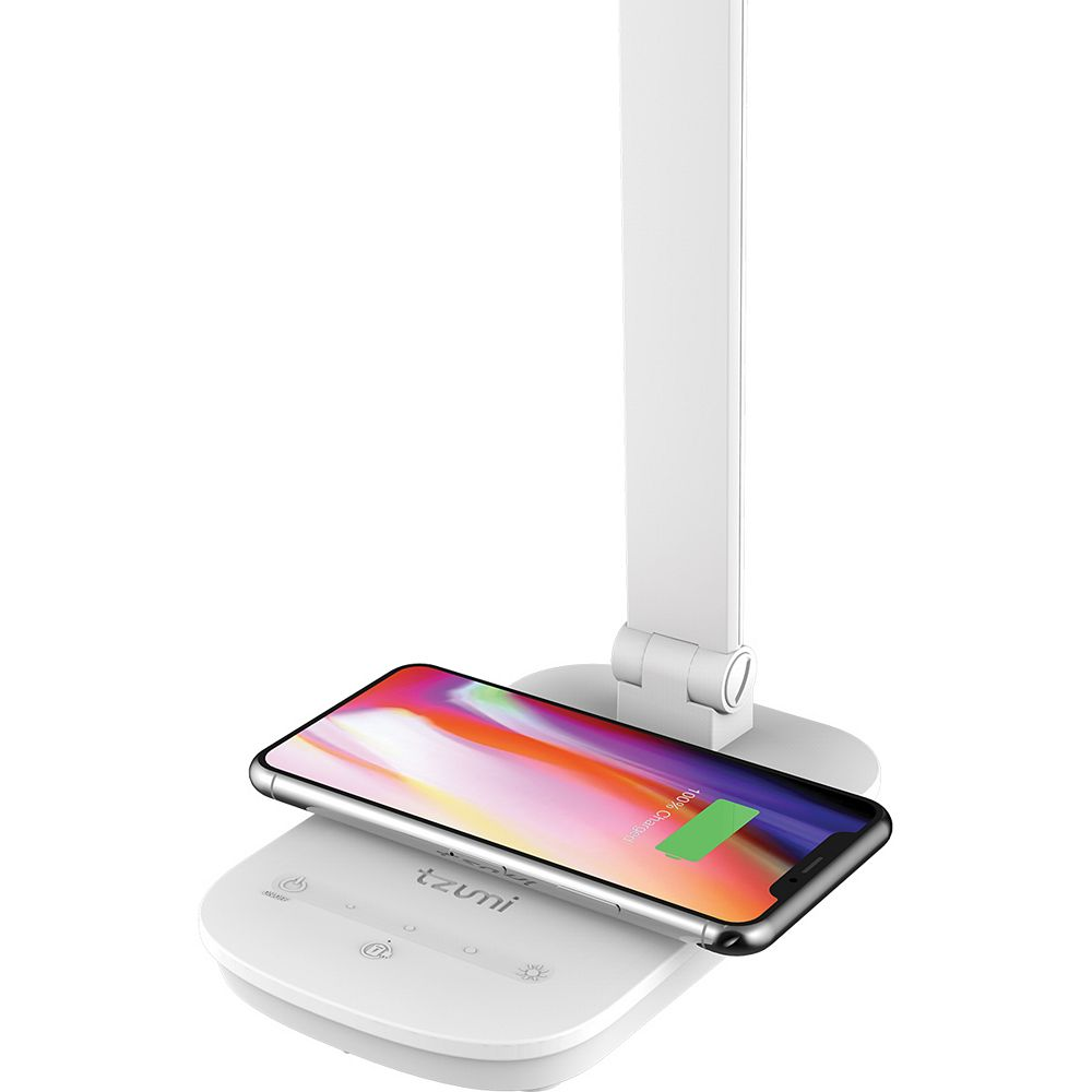 Tzumi 12-inch Wireless Charging LED Desk Lamp with Touch Sensor