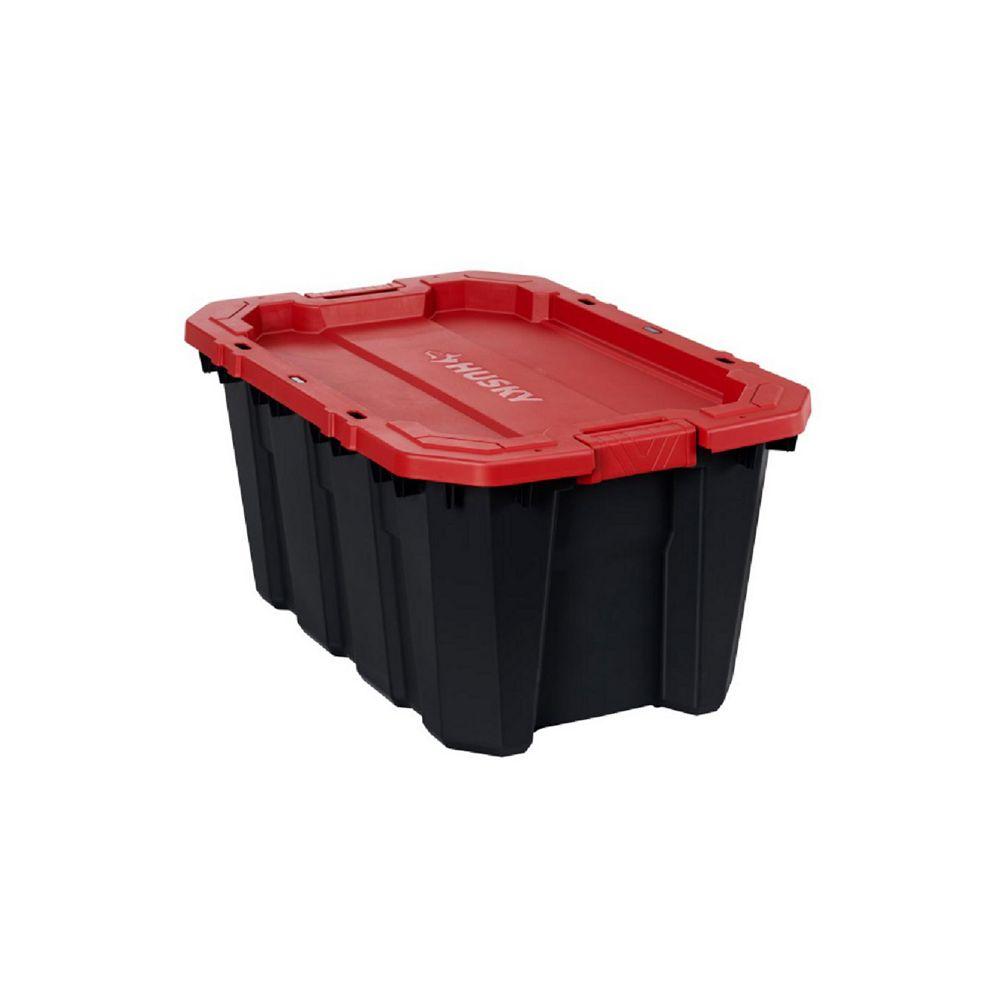 Husky 94.6L Fourre-tout à loquet et à piles en rouge