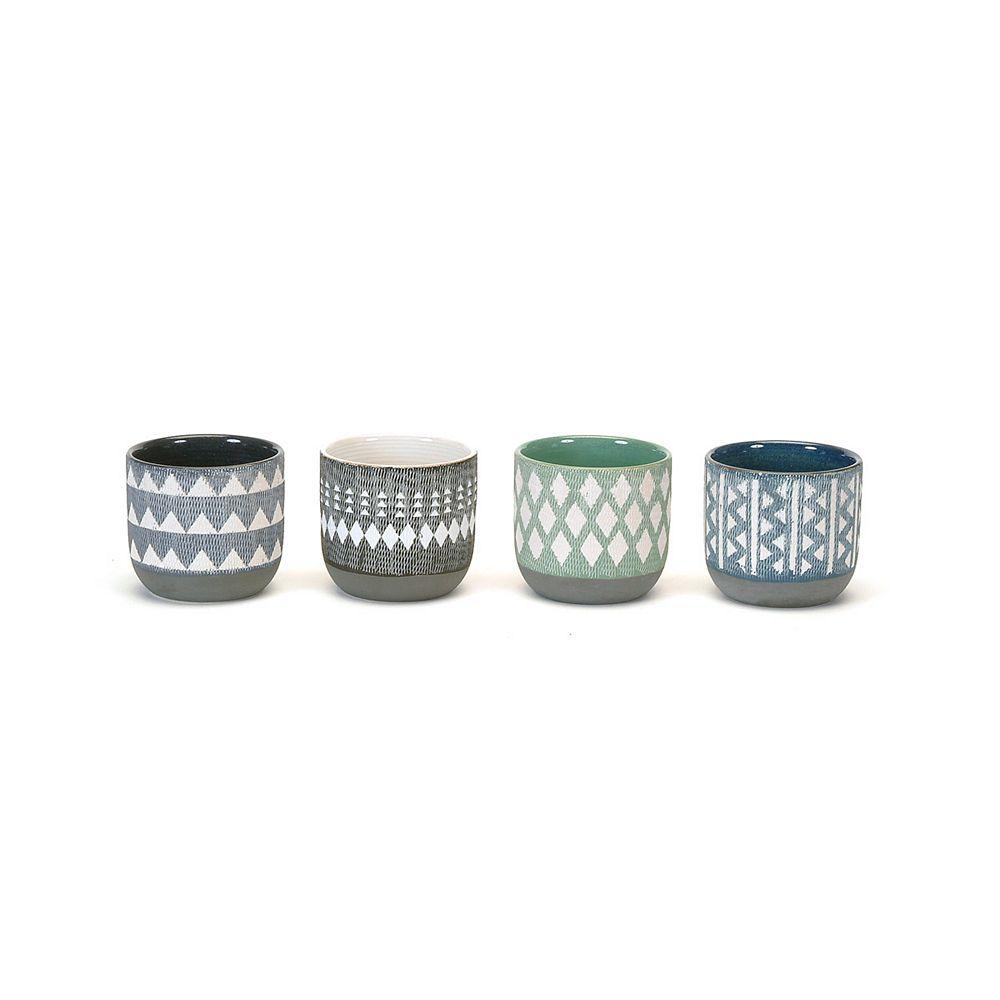 Wicker Bay ensemble 4 pièces en céramique