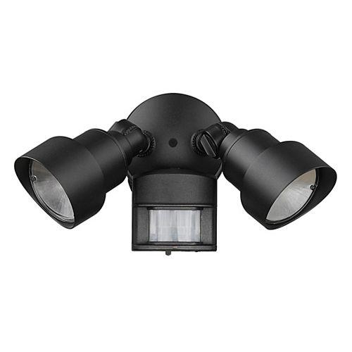 Acclaim Lighting Projecteur DEL à 2 luminaires réglable à détection de mouvement en aluminium coulé à fini de Noir