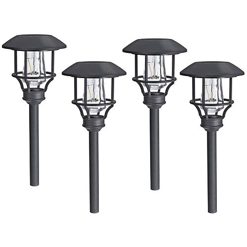 10-Lumen Vintage-Style Solar Path Light (Set of 4)