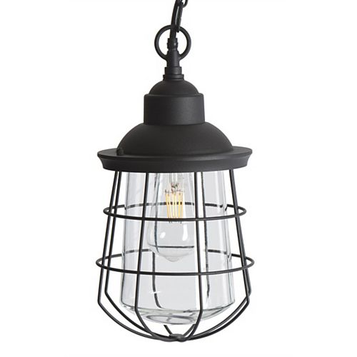Lampe suspendue d'extérieur à DEL en métal Sterno Home, 120 V, 540 lumens, 6 watts