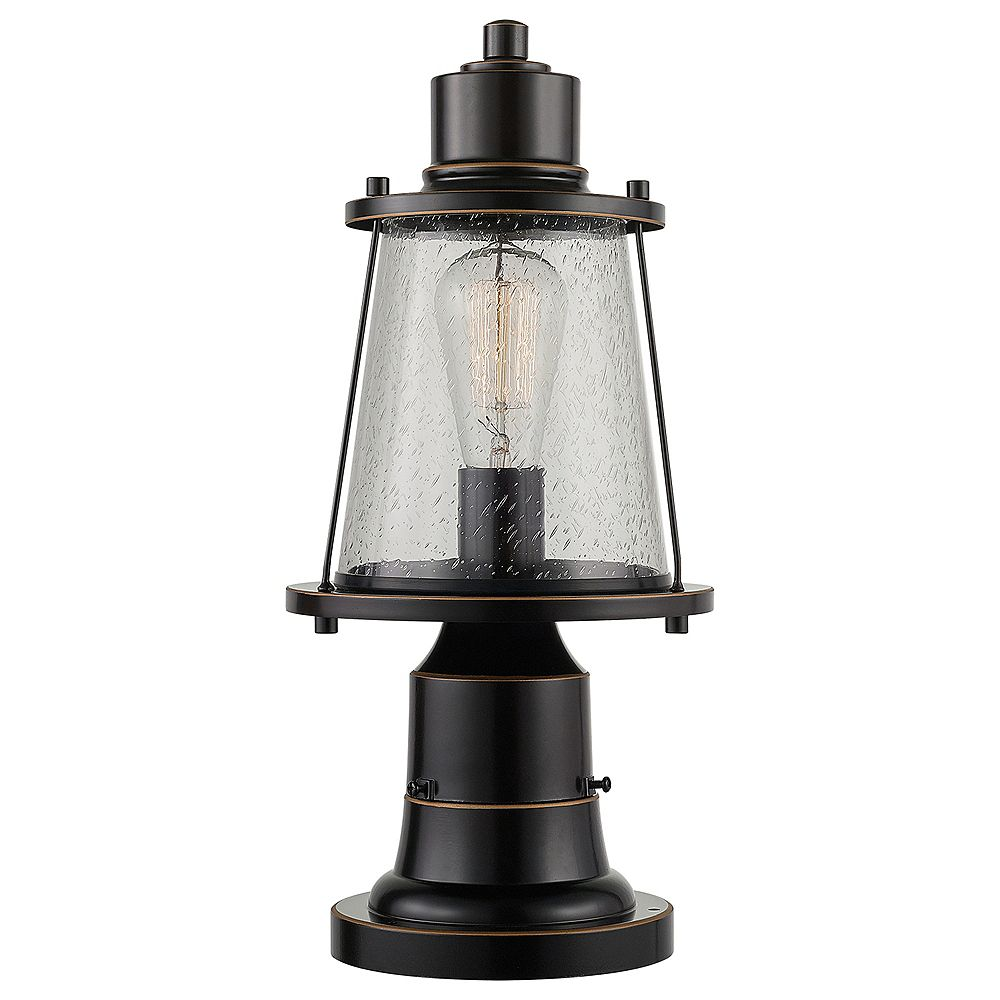 Globe Electric Charlie 1-Light Oil Rubbed Bronze Outdoor Lamp Post Light