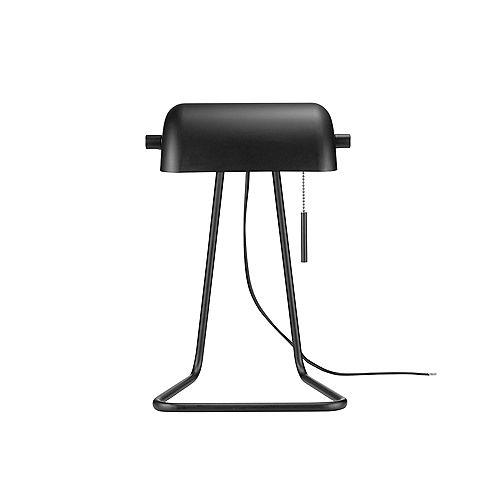 Lampe de travail pour banquiers de 15 po de collection Harrison en de couleur noir mat