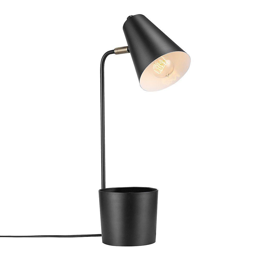 "Globe Electric Taylor 18"" Matte Black Desk Lamp with Organizer"