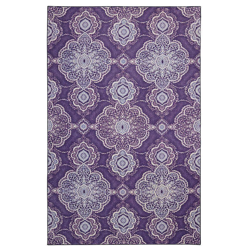 Mohawk Home Isabella violet 152 cm x 244 cm (152 pi x 8 pi)dintérieur Tapis