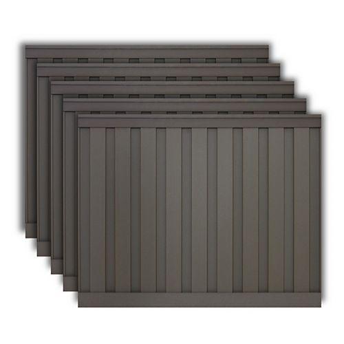 Kit de 5 Panneaux de Clôture Trex Seclusions Gris Winchester de 6 pieds X 8 pieds