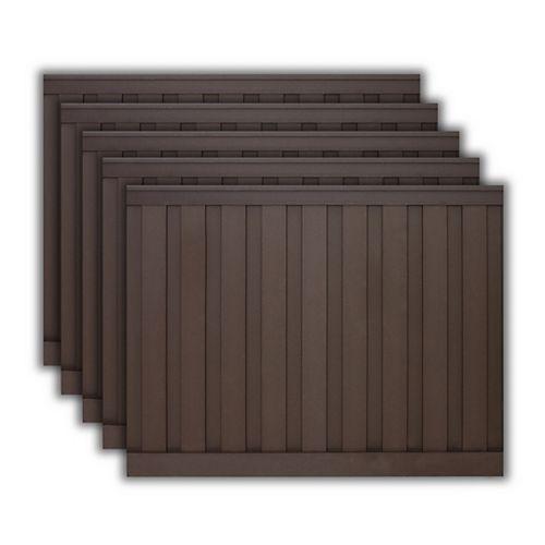 Kit de 5 Panneaux de Clôture Trex Seclusions Brun Boisé de 6 pieds X 8 pieds