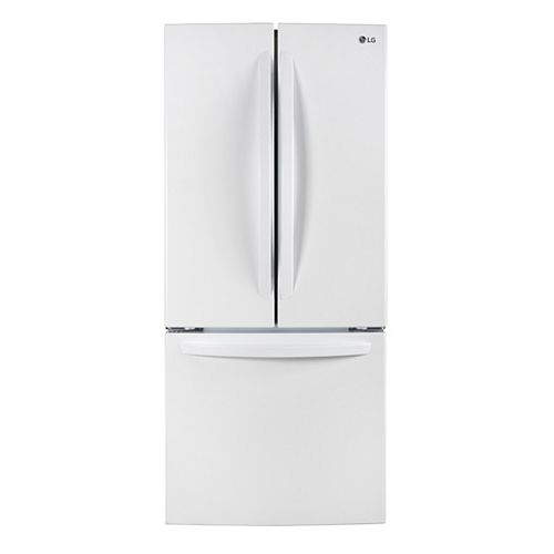 LG Electronics 30-inch W 22 cu. Ft. French Door Refrigerator in White - ENERGY STAR®