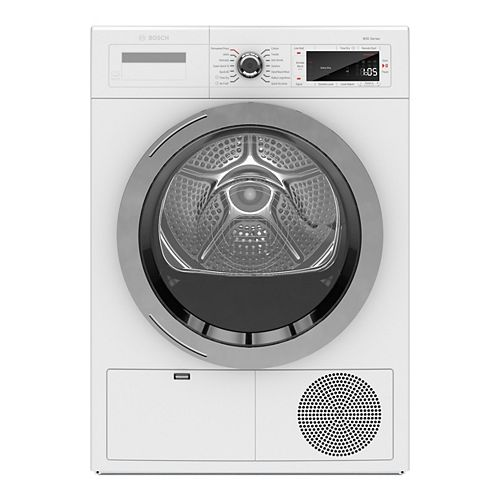 800 Series 24-Inch 4.0 cu.ft. Smart Condensing Dryer with Home Connect - ENERGY STAR® - Plug Adaptor Included