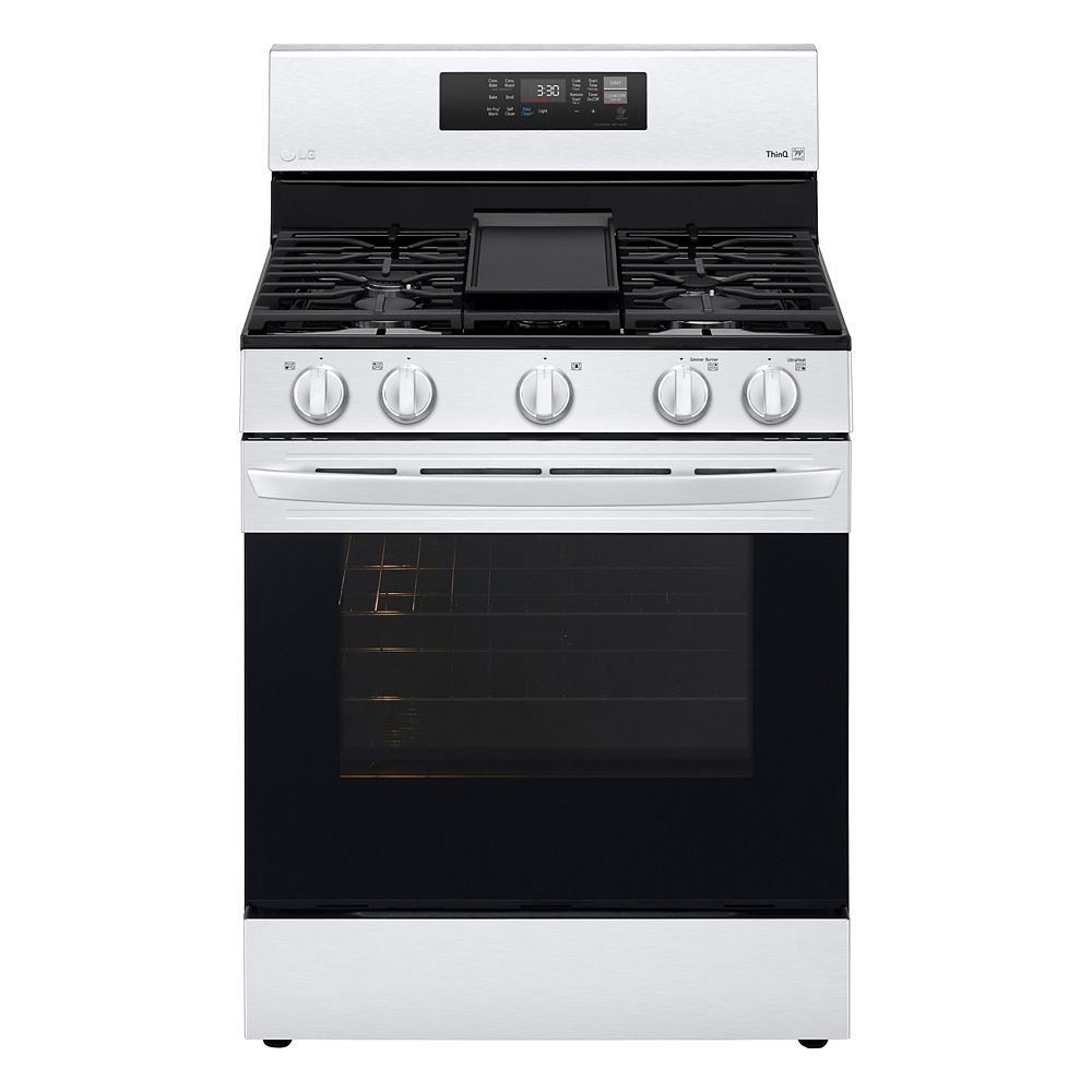 LG Electronics 5.8 cu. ft. Smart Gas Range with Air Fry and Wi-Fi in Stainless Steel