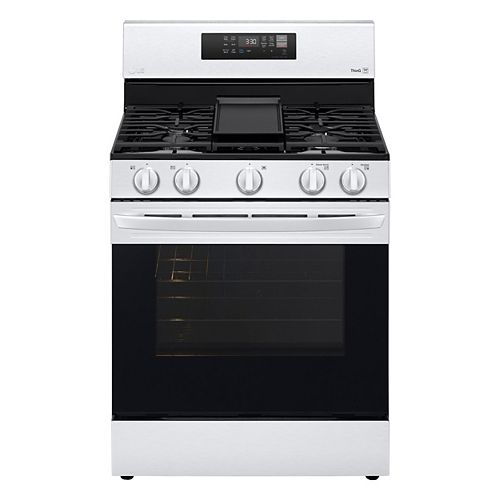 5.8 cu. ft. Smart Gas Range with Air Fry and Wi-Fi in Stainless Steel