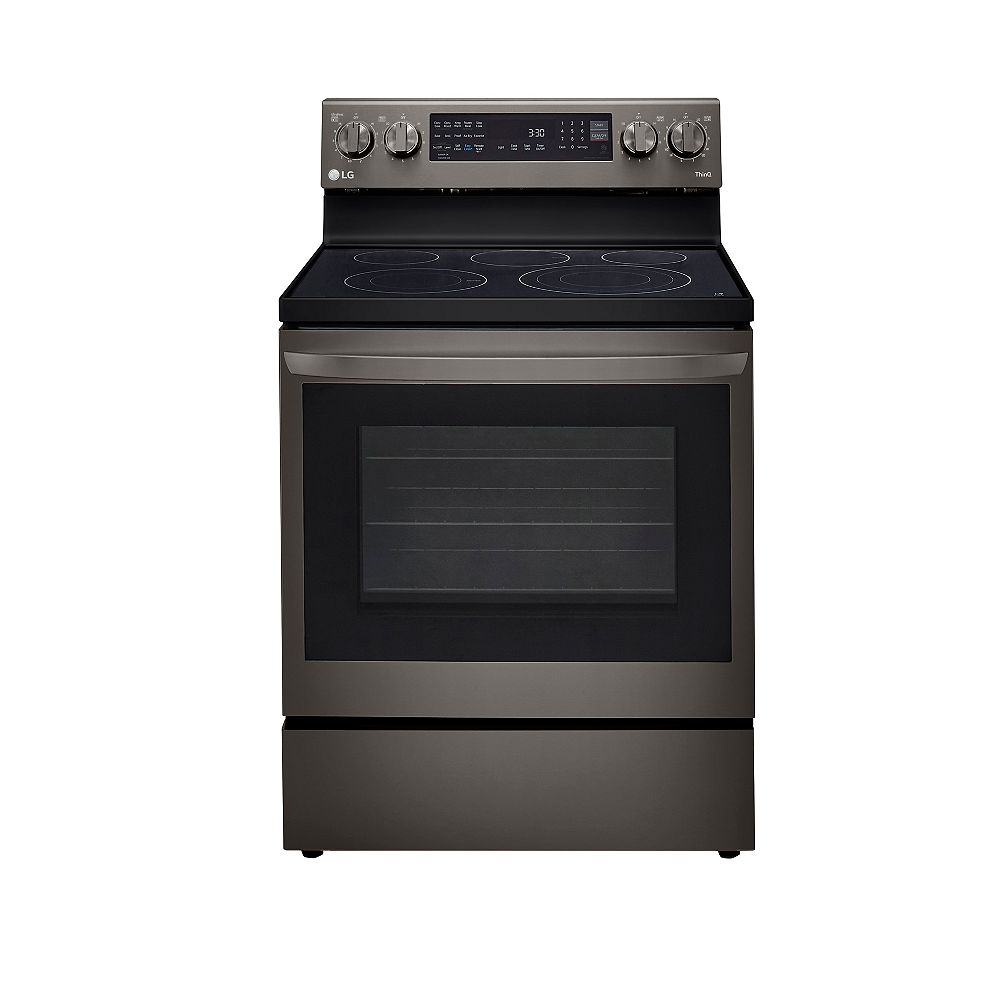 LG Electronics 6.3 cu. ft. Smart Electric Range with InstaView and Air Fry in Smudge Resistant Black Stainless Steel