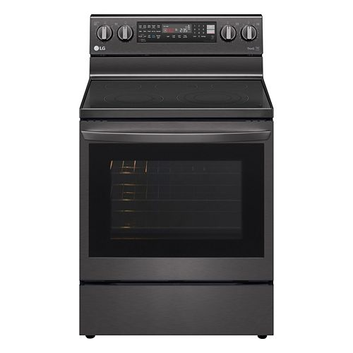 6.3 cu. ft. Smart Electric Range with InstaView and Air Fry in Smudge Resistant Black Stainless Steel