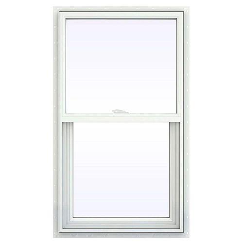 """24""""x36"""" RSO Builders Guillotine Simple avec lame de clouage, PVC blanc, low-e, argon, moustiquaire"""