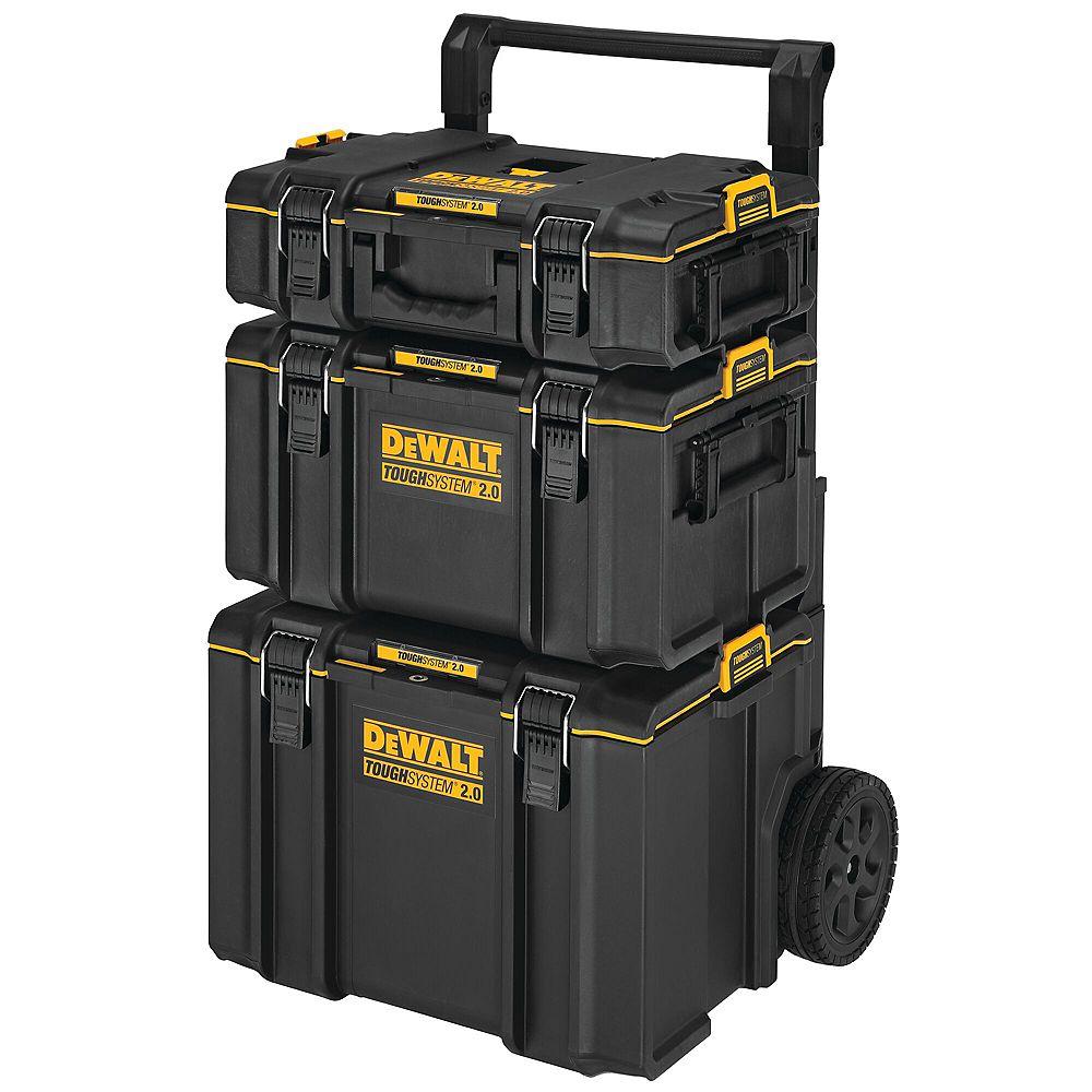 DEWALT Tough System 2.0 Tower Tool Box Storage System (3-Piece Set)