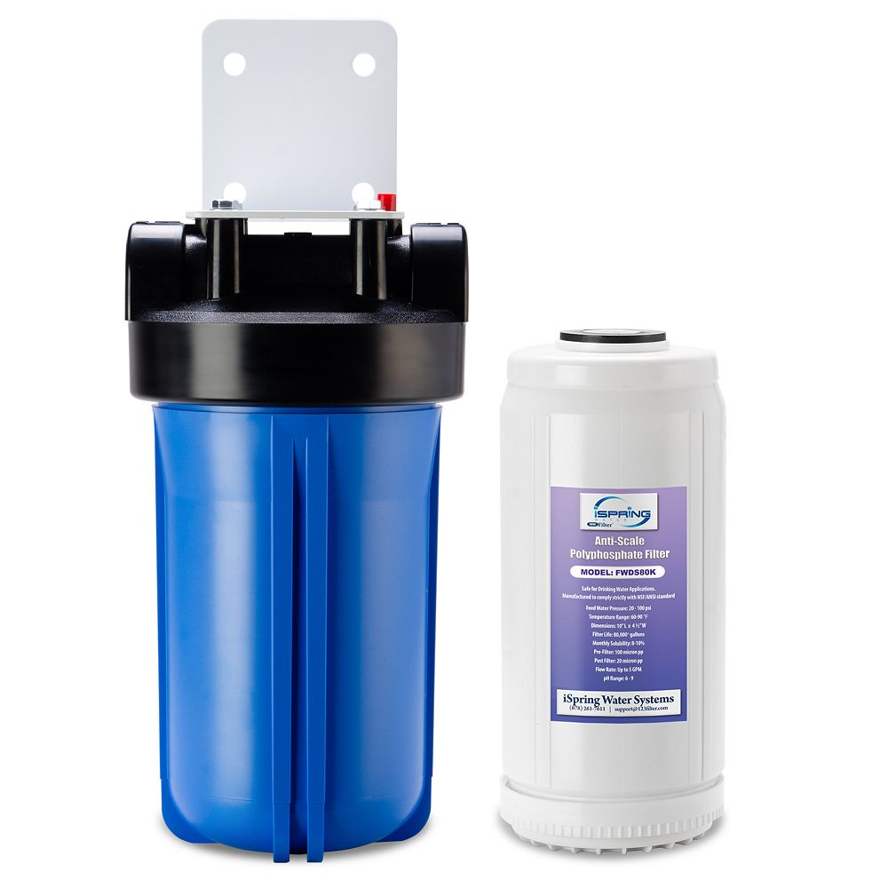 """iSpring WDS80K Anti Scale 10"""" x 4.5"""" Whole House Water Filter with Patented Scale Inhibitor"""