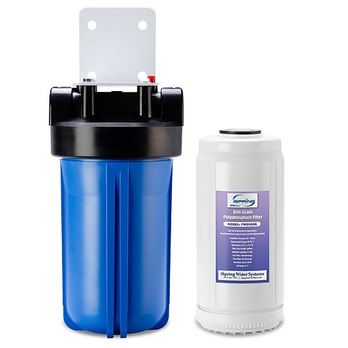 """WDS80K Anti Scale 10"""" x 4.5"""" Whole House Water Filter with Patented Scale Inhibitor"""