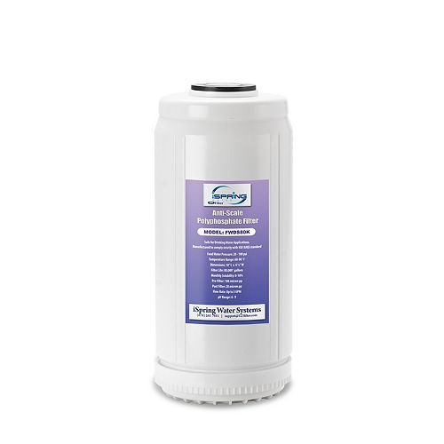 FWDS80K 10 x 4.5 Water Filter Cartridges - Anti Scale Filter with Patented Scale Prohibitor