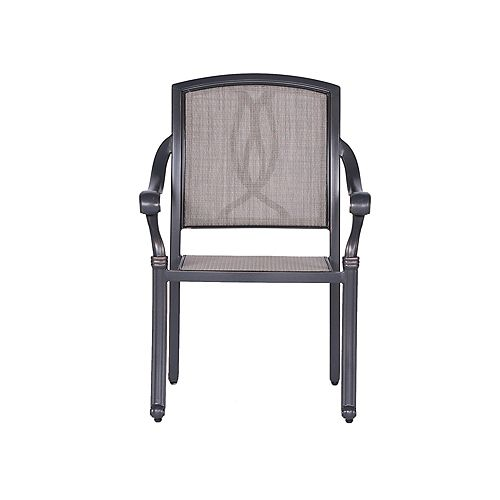iPatio Outdoor Rust-Free Aluminum Patio Sling Patio Chairs, Set of 2