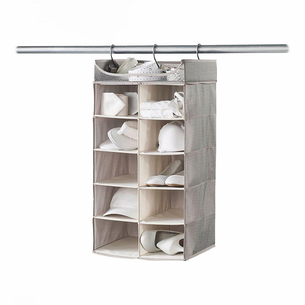 Neatfreak Neatfreak 2 ft. x 5 ft. 10-Shelf Hanging Closet Organizer