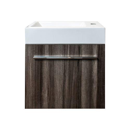 Meuble-lavabo Orsa avec comptoir acrylique, 18 po