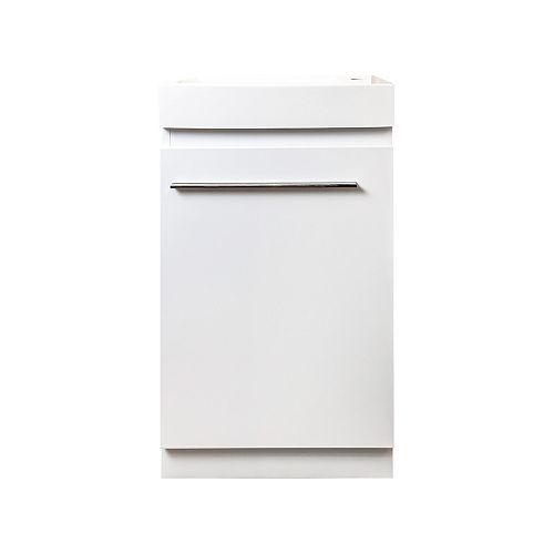 Meuble-lavabo Auto portante Orsa, 18 po blanc