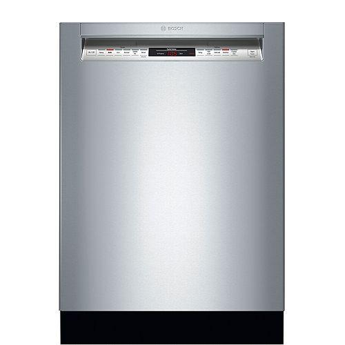 Lave-vaisselle 24 pouces à commande frontale de la série 800 en acier inoxydable, 3e panier, 42 dBA, CrystalDry® ENERGY STAR®