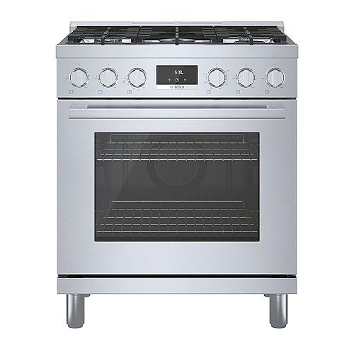 Bosch 30 inch Industrial Style Stainless Steel Gas Range