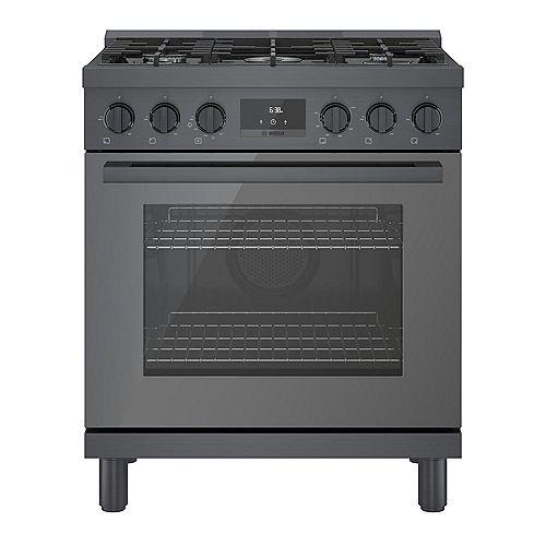 30 inch Industrial Style Black Stainless Steel Gas Range