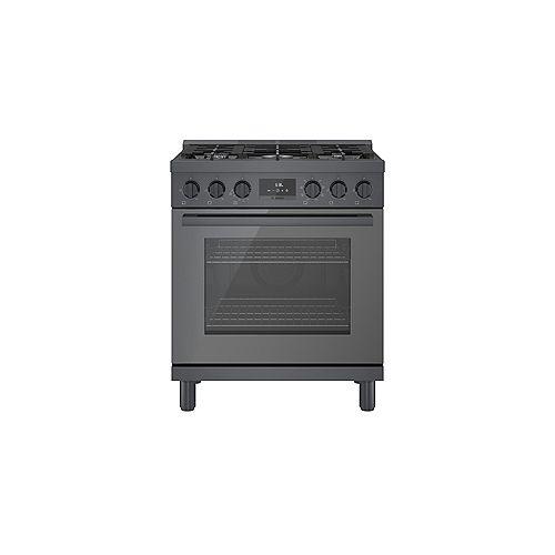 30 inch Industrial Style Black Stainlesss Steel Dual-Fuel Range