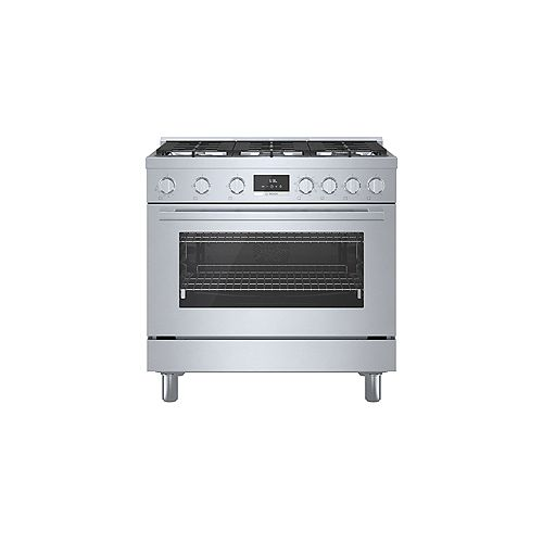 Bosch 36 inch Industrial Style Stainless Steel Dual-Fuel Range