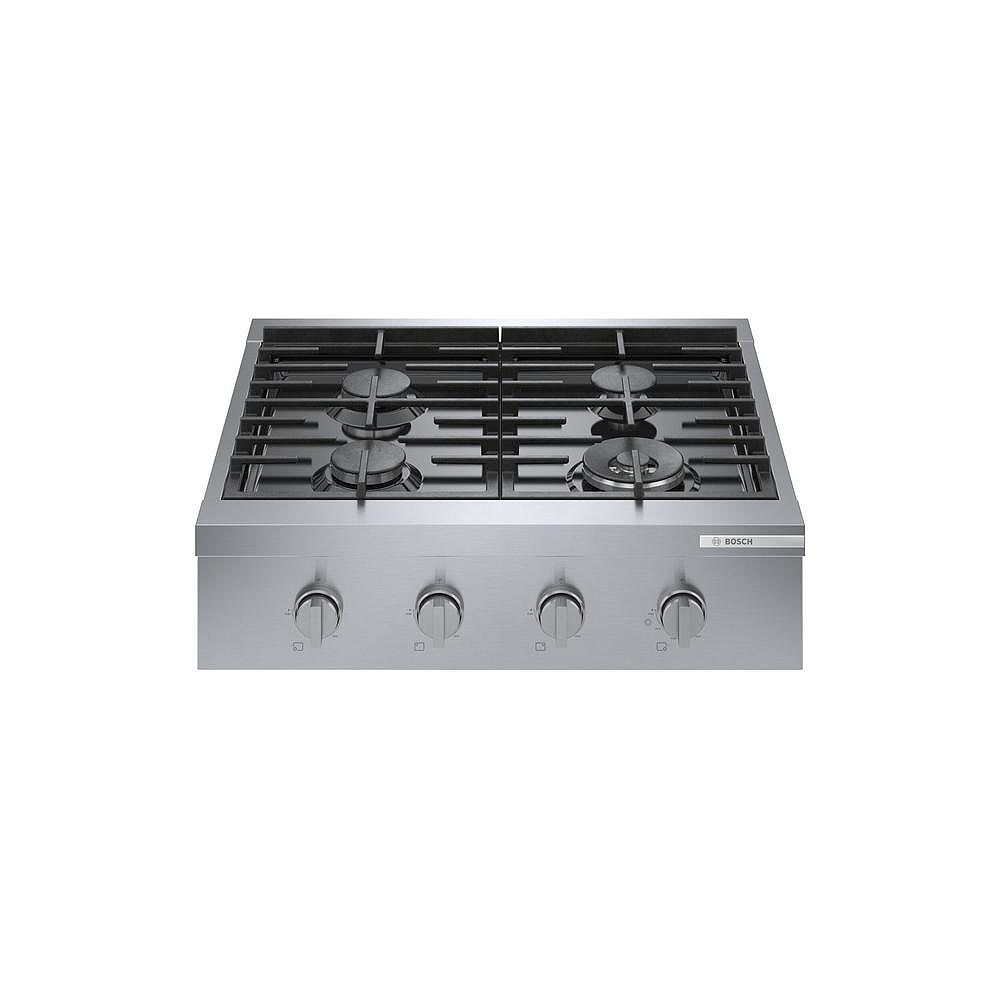 Bosch 800 Series 30-Inch Built-In Industrial Style Gas Cooktop
