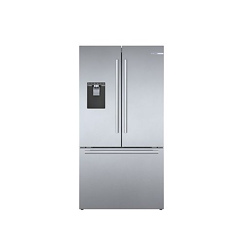 500 Series 36-inch 21.6 cu.ft. Smart Counter-Depth French Door Refrigerator with Home Connect in Stainless Steel - ENERGY STAR®