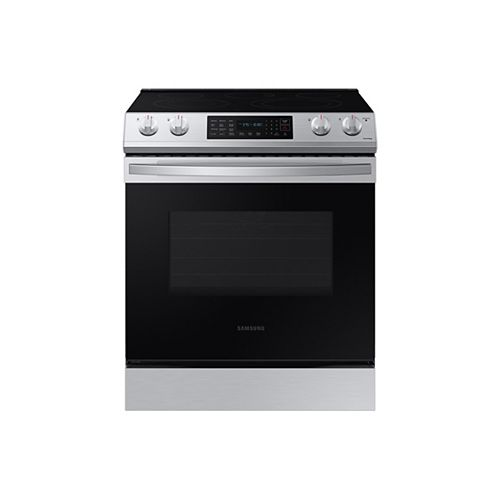 6.3 cu.ft. Single Oven Slide-In Electric Range with Self-Cleaning Oven in Fingerprint Resistant Stainless Steel