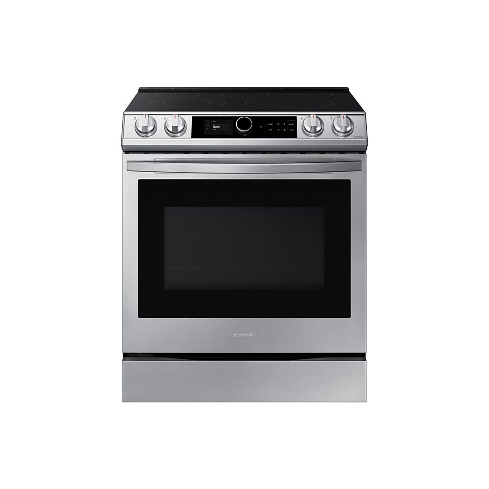 Samsung 6.3 cu.ft. Single Oven Slide-In Electric Range with Self-Cleaning True Convection Oven and Air Fry in Stainless Steel
