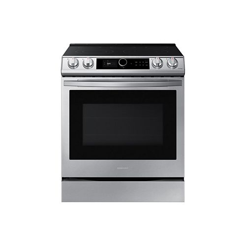 6.3 cu.ft. Single Oven Slide-In Electric Range with Self-Cleaning True Convection Oven and Air Fry in Stainless Steel