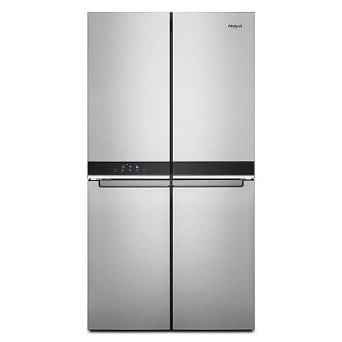 Réfrigérateur à 4 portes de 36 po et 19,4 pi. cu. en acier inoxydable résistant aux traces de doigts, profondeur de comptoir - ENERGY STAR®