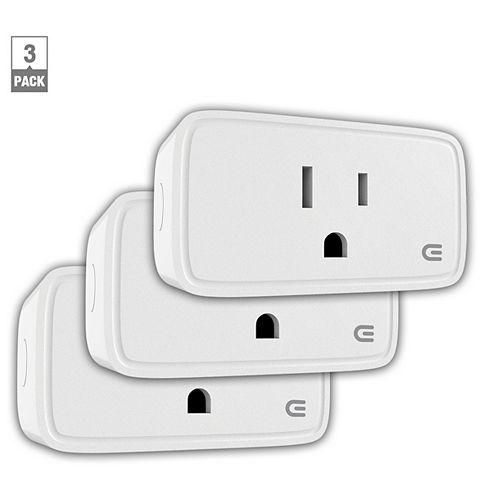 15 Amp. Indoor Wi-Fi Smart Home Plug (3-Pack)