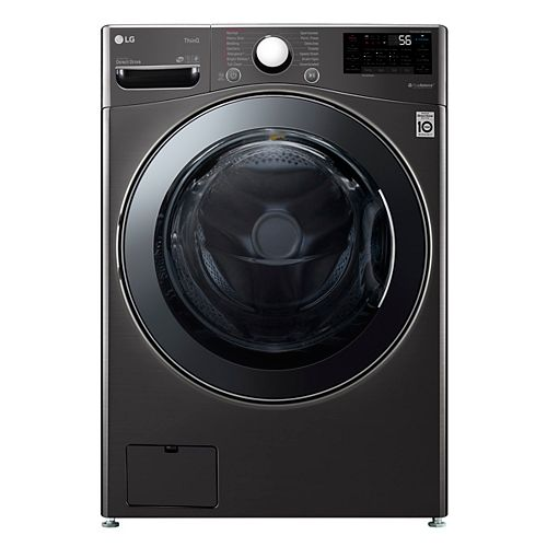 5.2 cu. ft. Smart All-in-One Washer & Dryer with Wi-Fi in Black Steel