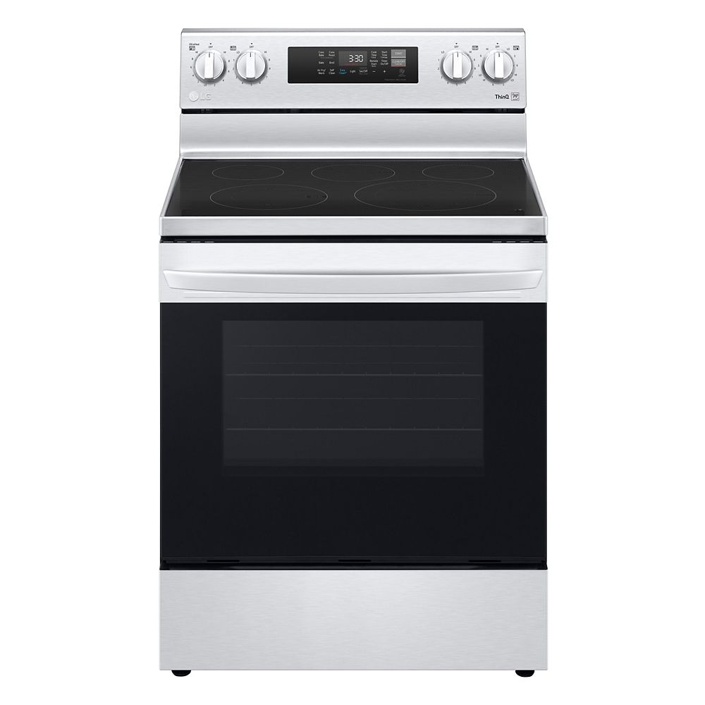 LG Electronics 6.3 cu. ft. Smart Electric Range with Air Fry and Wi-Fi in Stainless Steel