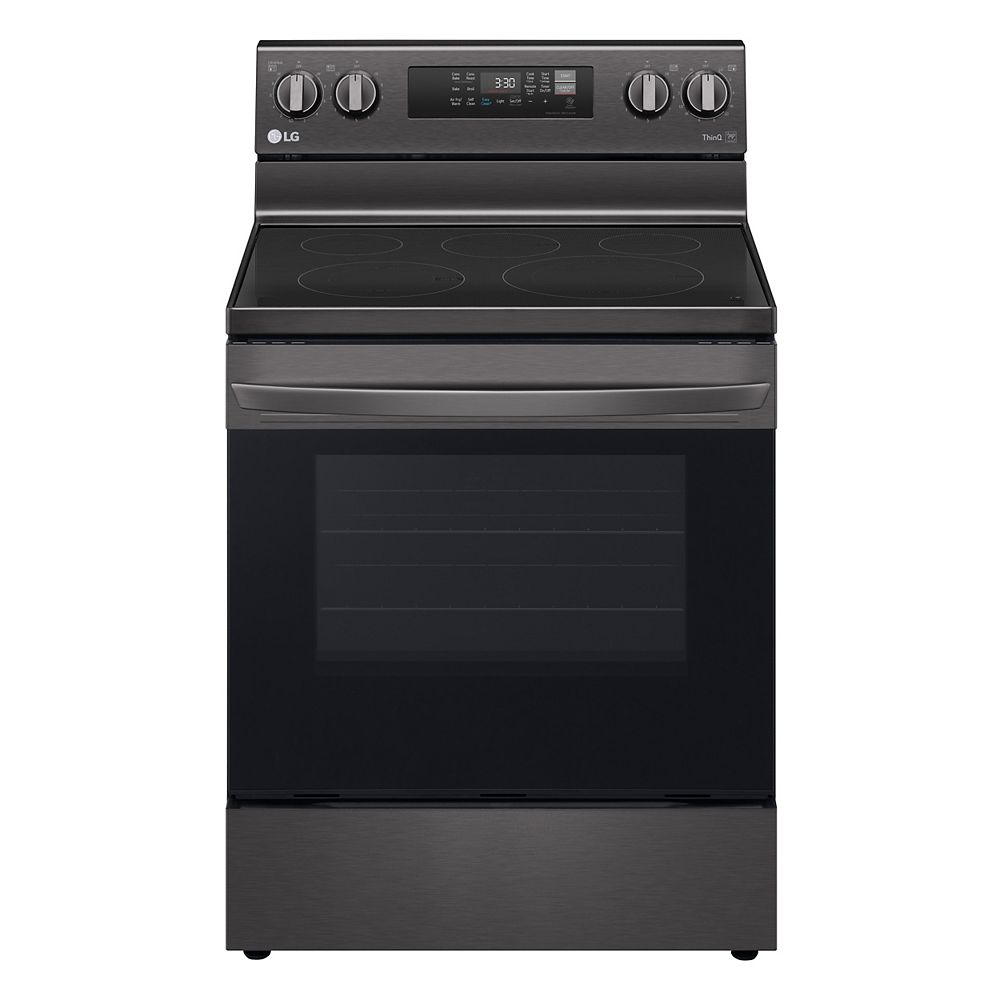 LG Electronics 6.3 cu. ft. Smart Electric Range with Air Fry and Wi-Fi in Black Stainless Steel